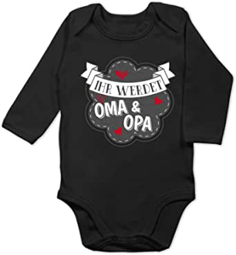 Spr/üche Baby Ich Habe den besten Opa der Welt Shirtracer Baby Body Langarm