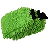 SOBBY Microfibre Wash and Dust Chenille Mitt Cleaning Gloves (3 Pcs Single Sided, Extra Large, Big Chenille Mitt Glove)