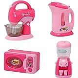 Zest 4 Toyz Household Set for Kids Girls Modern Kitchen Play Set with Sound Music Pretend Play Appliances Accessories Set of