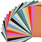 WOWOSS 20 Fogli Carta Glitterata A4 10 Colori, Carta Glitter Colorata per Decorazioni Artigianali