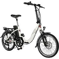 AsVIVA E-Bike 20 Zoll, Faltrad (15,6Ah Akku), Klapprad, 7 Gang Shimano Kettenschaltung, Heckmotor, Scheibenbremsen, weiß