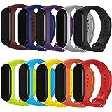 Maspen Armband Kompatible für Xiaomi Mi Band 4 /Mi Band 3 Damen Herren, Silikon Ersatz Fitness Armband und Uhrenarmband Sportarmband und Wristband Armbänder für Xiaomi Mi Band 4/3