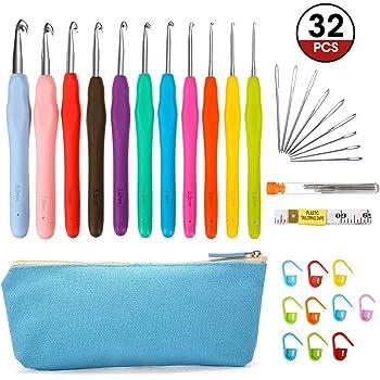 104 Pieces Locking Stitch Markers Knitting Stitch Counter Multi-Colored Cro U2O2