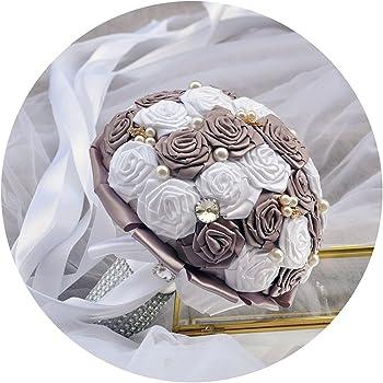 Topqueen Hochzeitsstrauss Brautstrauss Fur Die Braut Braut Bouquet