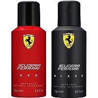 Ferrari Deodorant, Red, 150ml and Ferrari Black Deodorant,150ml