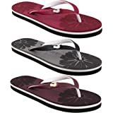Dashny Combo Pack of 3 Soft Comfortable Slippers & Flip-Flops for Women Multicolor (Combo-(3)-281-282-283)