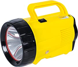 Amardeep (Made in India) 5W Ultra-Bright CREE L.E.D. Rechargeable Torch -YELLOW