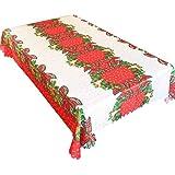 TheStriven Mantel de Navidad Mantel de PVC Desechable Cocina Comedor Decoraciones de Mesa Manteles para Año Nuevo Decoración