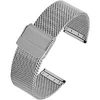 FJXJLKQS Bracelet en Métal Bracelet de Montre Bracelet de Montre de Remplacement en Maille d'acier Inoxydable Réglable…