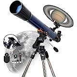 ESSLNB Refraktor Teleskop Astronomie Profil 525X Vergrößerung 70/700 Sternen Teleskop für Kinder Einsteiger Erwachsene mit Sm