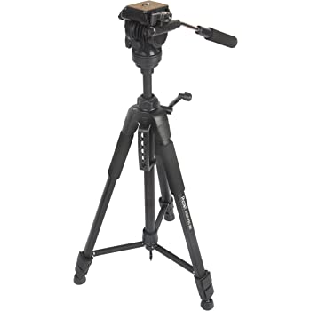 PHOTRON STEDY PRO 880V Professional VIDEO TRIPOD with Fluid Video 3-Way Pan Head + Tripod Bag