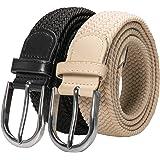 RBOCOTT Elastic Belt Braided Stretch Woven Belt for Men