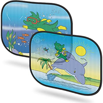 SURFER OUTTA THIS WORLD Personalised Car Sunshade Custom Window Kids Baby