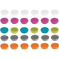 Franken Lot de 30 aimants adhésifs pour Tableau Blanc, réfrigérateur, Tableau magnétique, Tableau magnétique, Couleurs…
