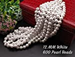 Satyam Kraft Pearl Beads for Beading DIY Jewellery (White)