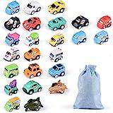 Herefun 24 Pcs Mini Coches Vehículo de Juguete, Tire hacia Atrás Coches Educativo Juguete, Coches de Carreras Juegos Vehículo