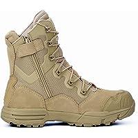 JRYⓇ Bottes pour Hommes - Bottes de Patrouille Montantes de l'armée Chaussures de Police de sécurité Chaussures Tout…