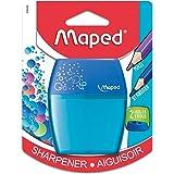 Maped Shaker 634755 - Sacapuntas 2 orificios, plástico, colores surtidos, 1 unidad