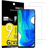 NEW'C 2-Stuks, Screen Protector voor Xiaomi Poco M2 Pro, Poco X3 NFC, Gehard Glass Schermbeschermer Film 0.33 mm ultra transp