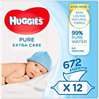 Huggies Pure Extra Care Baby Wipes, Pack of 4 (3 X 56 Baby Wipes)