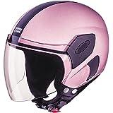 Studds Open Face Helmets for Girls & Women (54cm, Pink Plain Visor)