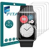 FITA 6 Piezas Película Protectora Compatible con Huawei Watch Fit/Honor ES Protector de Pantalla, 99,99% HD Flexible TPU Resi