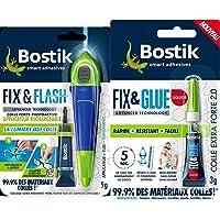 Bostik Kit Colle de Réparation Fix & Flash – Colle Forte Photoactive – Efficace sur Tous Matériaux et Toutes Surfaces…