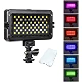 Viltrox RB10 LED video light for camera, With white filter and LCD display,Dimmable RGB Camera/Camera Video Light,2500-8500KC