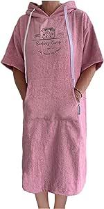 Homelevel Robe de plage en tissu /éponge 100 /% coton Poncho de plage Poncho de bain avec capuche