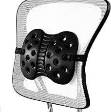 BackJoy Orthopedic Lumbar Support for Back Pain | Perfect for Office Chair with Adjustable Strap