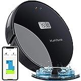 GJF Robot Aspirador Potencia de Succi/ón 3000 Pa,Panel de Control T/áctil,Robot Aspirador Y Fregasuelos,con Tecnolog/ía Dirt Detect,para Alfombras de Pelo Duro para Mascotas Blanco