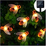 Solar LED Bienen Lichterkette, Mr.Twinklelight® 30 LED Warmweiß Außen Wasserdichte lichterkette Dekorative für Garten…