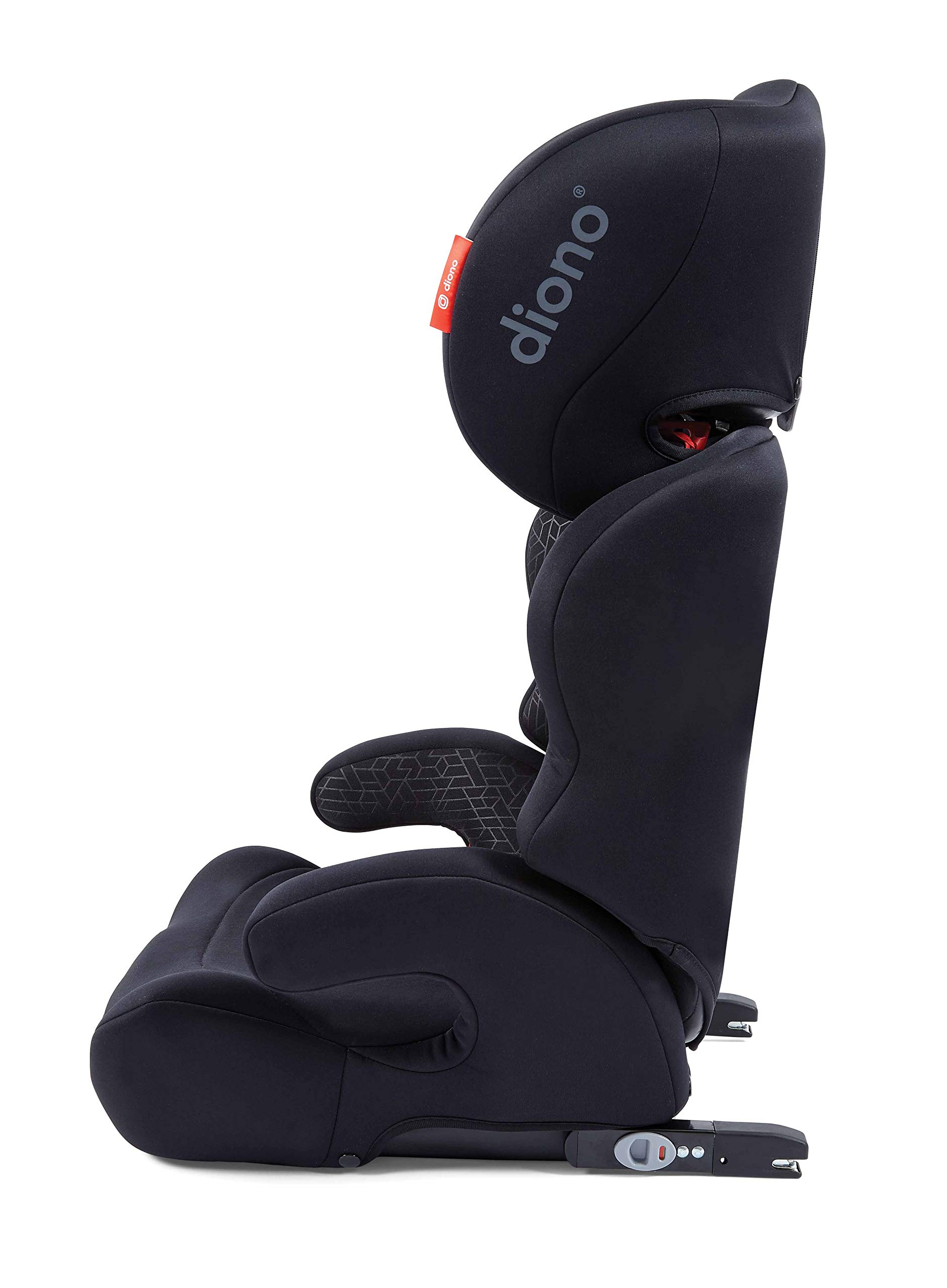Diono Everett NXT Fix Highback Booster Seat - 7 Position Adjustable Headrest, Group 2/3 (15 - 36 kg and Up to 160 cm In Height), Approx. 4-12 Years, Black Diono Designed to grow: group 2/3 car seat is suitable from 18kg - 50kg, approx. 4 to 12 years old. The 7-position adjustable headrest can be altered using the handle on the back of the seat Superior safety: cushioned side impact protection has been engineered and tested to the highest standards. The ergonomic design includes extra padding to provide comfort and security as a child grows Universal connectivity: parents can install the seat using the vehicle seatbelt or use the integrated rigid latch connectors that anchor the seat to the car allowing the child to buckle themselves in 11