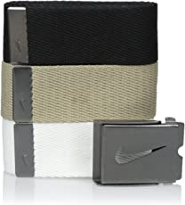 Nike Men's 3 Pack Web Belt