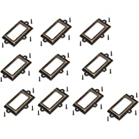 Lot de 10 grands porte-cartes 107 mm 60 mm pour tiroir/étiquettes/porte-étiquettes/poignée de cadre d'armoire/porte-nom…