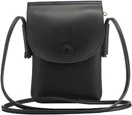Moon mood Gürteltasche Handy Tasche Phone Bag, 6,5 Zoll PU Leder Smartphone Multifunktions Kartensteckplätze über Taille Holster Outdoor Sports Molle Taktische Kleine Handytasche Hüfttasche