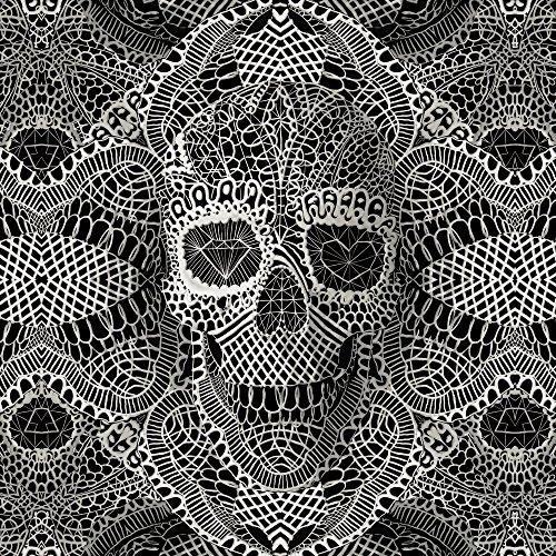 Apple iPhone SE Case Skin Sticker aus Vinyl-Folie Aufkleber Skull Lace Totenkopf Muster DesignSkins® glänzend