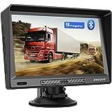 AWESAFE Navegador GPS para Camiones y Coches de 9 Pulgadas, con Visera y Bluetooth, Actualizaciones de Mapas de Europa para T