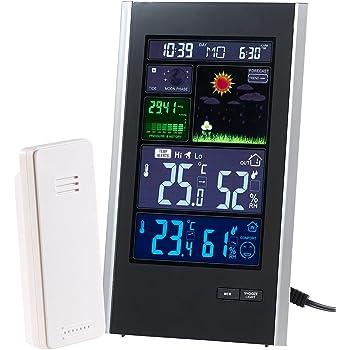 infactory thermometer hygrometer funk wetterstation mit au ensensor wecker usb ladeport 2. Black Bedroom Furniture Sets. Home Design Ideas
