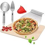 BOYO Pierre à pizza pour four, kit de pierres à pizza pour four et barbecue avec spatule à pizza + plaque de cuisson + spatul