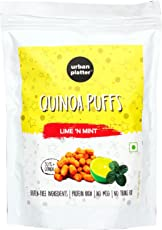 Urban Platter Roasted Quinoa Puffs Lime 'N Mint, 80g [Gluten Free, Rich in Protien, No Msg, No Trans-Fat]