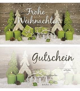 Artikel Weihnachten.10 Stück Weihnachtsgutschein Gutschein Weihnachten Einkaufsgutschein