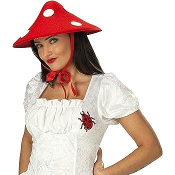 Costume fungo rosso e bianco da donna Taglia Unica  Amazon.it ... f1c77fa97c5c