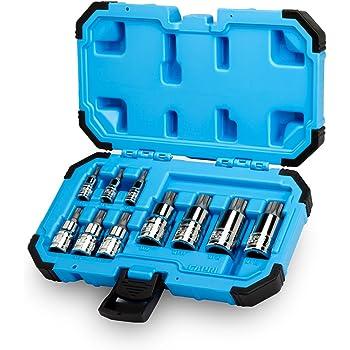 Capri Tools XZN-Spline-Chiave a bussola, S2, confezione da 10 pezzi