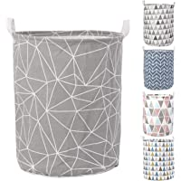 HOKIPO Folding Laundry Basket for Clothes, Round Collapsible Storage Basket - Large 43 LTR (AR2536)