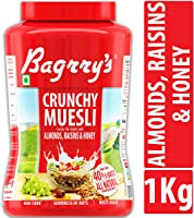 Bagrry's Crunchy Muesli Oat Clusters with Almonds, Raisins & Honey, 1000 GM