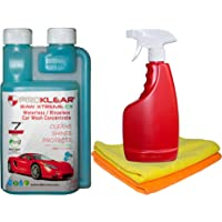 PROKLEAR Waterless Car Wash Kit Concentrate RAW Xtreme CX Carnauba Wax 250ml - 50 Washes