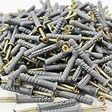 Slagpluggen 6 x 60 - 200 stuks nagelpluggen pluggen kruiskop voorgemonteerd
