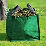 GroundMaster 120L Garden Waste Bags - Heavy Duty Large Refuse Sacks with Handles (1)