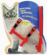MUNCHOS Cat Harness Leash Set, 22-36 cm/10 mm, 1,20 m (Colour May Vary).